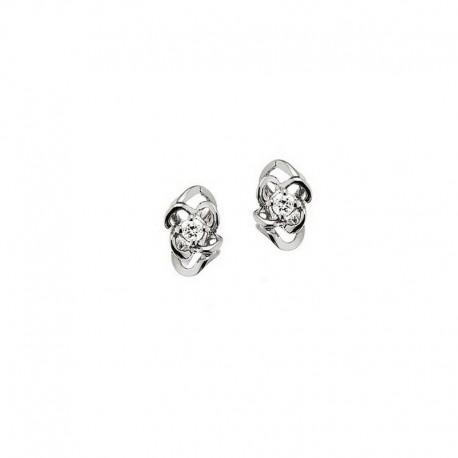 Boucles d'oreilles légères en or avec diamants