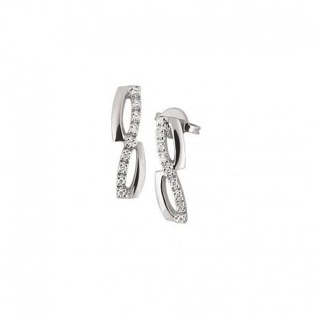 Boucles d'oreilles en or avec diamants