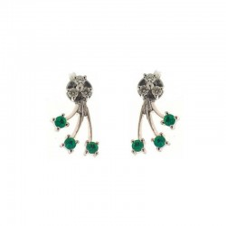 Pair of Gold Earrings With Precious Stones