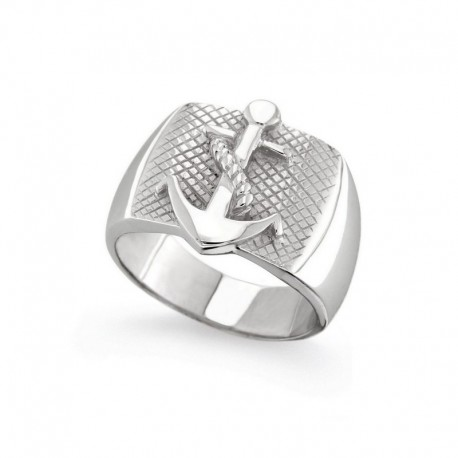 925 Sterling Silver Ring with Marine Anchor