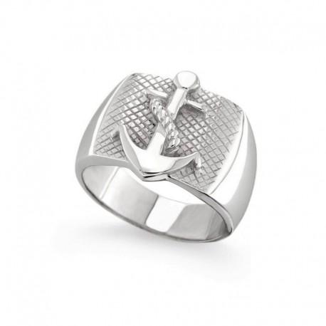 Ring aus 925er Sterlingsilber mit Meeresanker