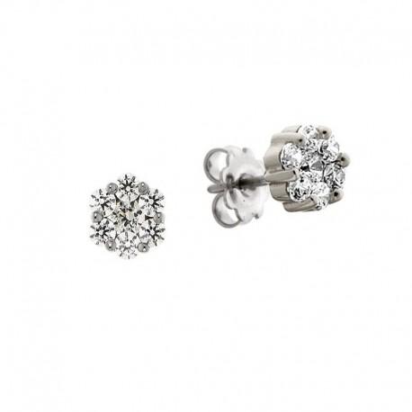 earrings, zirconia, silver 925