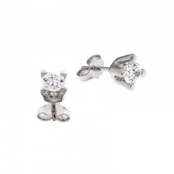 earrings, zirconia, silver 925
