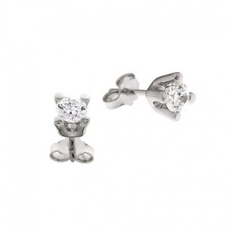 Boucles d'oreilles argent 925 et zircon