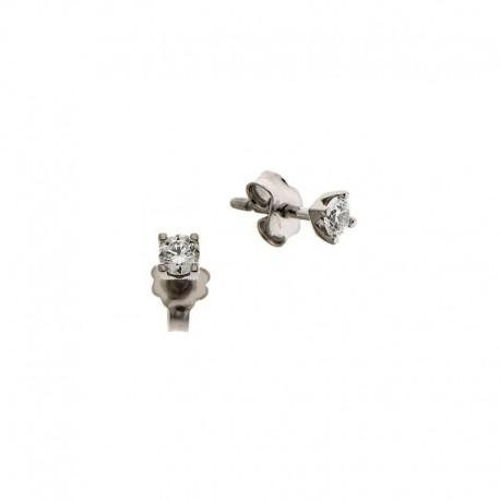 Ohrringe, Zirkonoxid, Silber 925