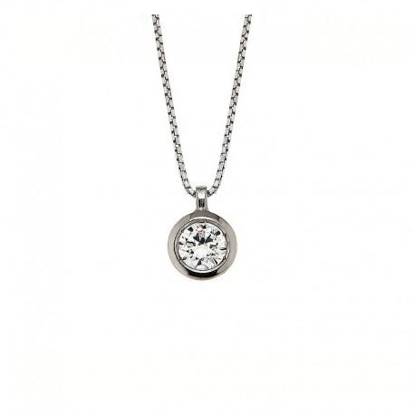Halskette Silber 925 und Kubikzirkonia Venezianische Kette 42 cm