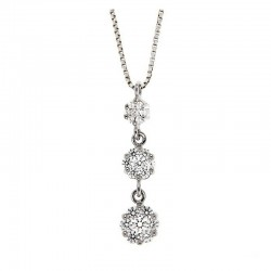 Necklace silver 925 and cubic zirconia Venetian chain 42 cm