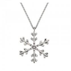 Collier flocon de neige en argent 925 chaine 42 cm