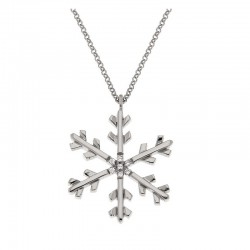 Necklace snowflake silver 925 chain 42 cm