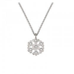 Collar copo de nieve de plata 925 cadena 42 cm