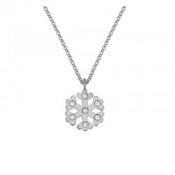 Halskette Schneeflocke Silber 925 Kette 42 cm