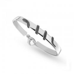 925er Sterlingsilber-Armband mit Schlange - 18 CM