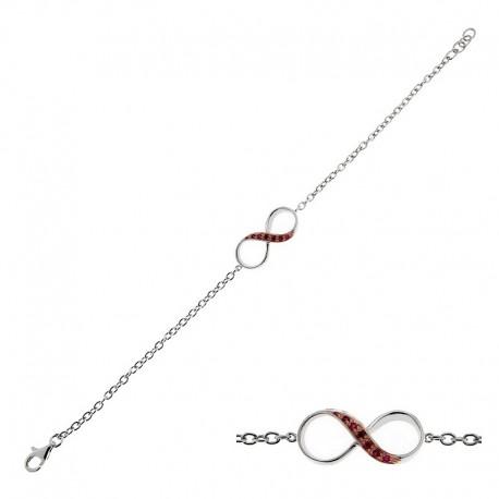 Armband aus 925 Sterling Silber und Cubic Zirkonia - 18 cm
