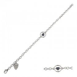 Bracelet en argent 925 et zircon cubique - 18 cm