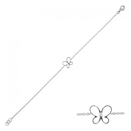 18k Goldarmband - 18cm mit Diamanten