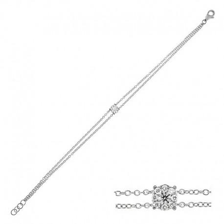 Bracelet en or 18k - 18cm avec diamants