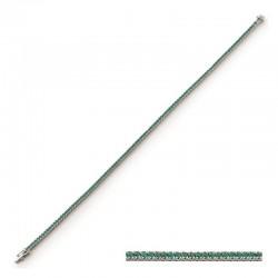 Pulsera de oro de 18k - 18cm con esmeraldas