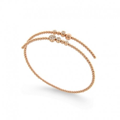 18k gold bracelet - 18cm with diamonds
