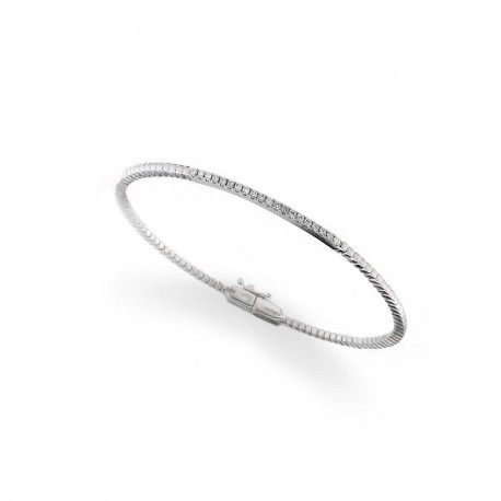 Bracelet en or 18k - 18cm avec diamants