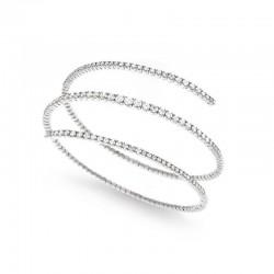 18k gold bracelet - 18cm with diamonds