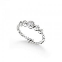 Ring 18 carat gold and diamonds