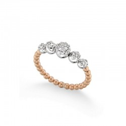 Ring 18 carat gold and diamonds