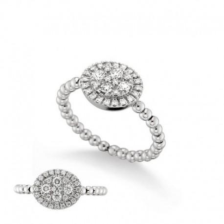 Bague Or 18 carats et diamants