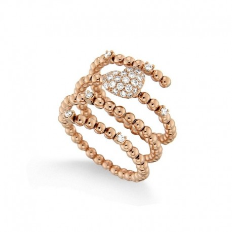 Anillo de oro de 18 quilates y diamantes