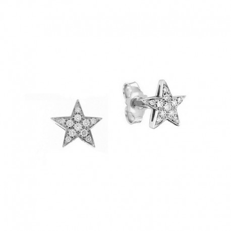 Star earrings with stars and diamonds