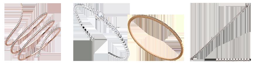 Gold- und Diamantarmbänder