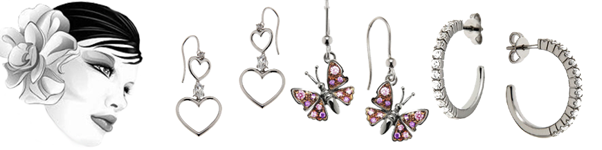 Silber-Ohrringe
