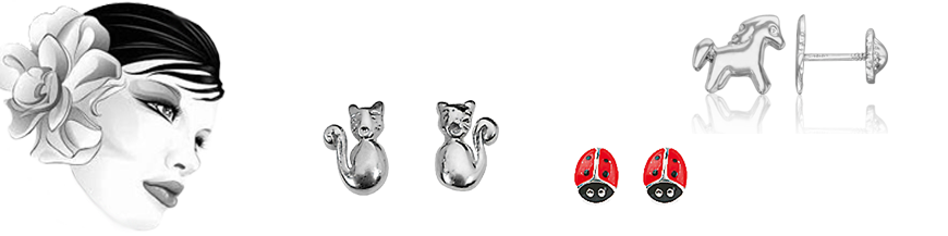 Kinder-Ohrring
