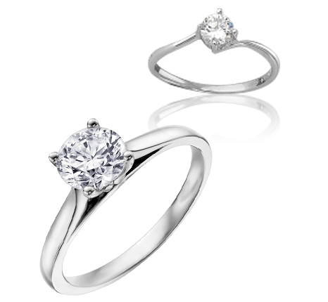 Solitaire or et diamants